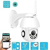DYWLQ WiFi Home Security Surveillance 1080P drahtlose IP-Kamera, Outdoor/Indoor-Wasserdach-Nachtsicht-Dome-Kamera, Intelligenz-Bewegungserkennung Zweiwege-Audio