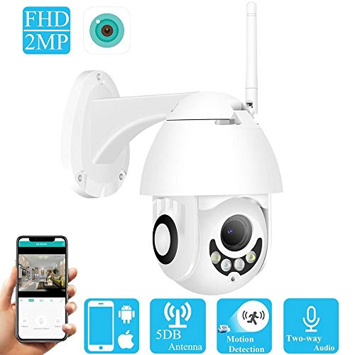 DYWLQ WiFi Home Security Surveillance 1080P drahtlose IP-Kamera, Outdoor/Indoor-Wasserdach-Nachtsicht-Dome-Kamera, Intelligenz-Bewegungserkennung Zweiwege-Audio -