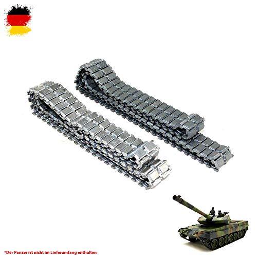 Original Metallketten von Heng Long, Upgrade Kit für RC Panzer u. a. German Leopard 2A6 3889 und 3889-1, Ersatz-Ketten, Tank, RC Modellbau, Kettenfahrzeug, Ersatzteil -