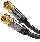 KabelDirekt - SAT Kabel - 2m - (F-Stecker, 75 Ohm, F Stecker Koaxialkabel geeignet für TV, HDTV, Radio, DVB-T,...