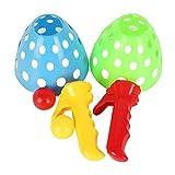MagiDeal 1 Set Kunststoff Fangballspiel Fangspiel Fangball Konzentration Kinder Spiel für Hinterhof, Park, Garten und Strand - Zufällige Farbe