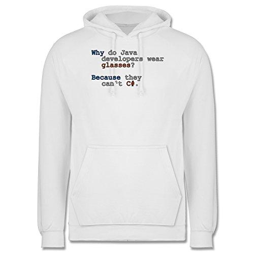 Programmierer - Java Developers - Männer Premium Kapuzenpullover / Hoodie Weiß