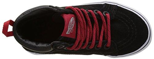 Vans SK8-Hi Mte, Baskets Basses Mixte Enfant Noir ((MTE) black/RACING RED)