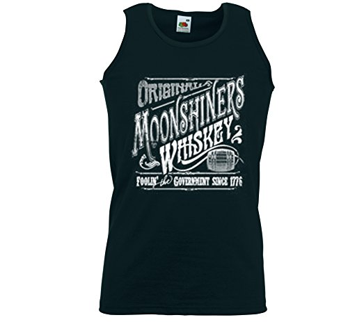 Booze Tank Top Muskel Shirt Moonshiners Whiskey Alk Rockabilly Biker Gr.M (Muskel-shirts Loom The Fruit Of)