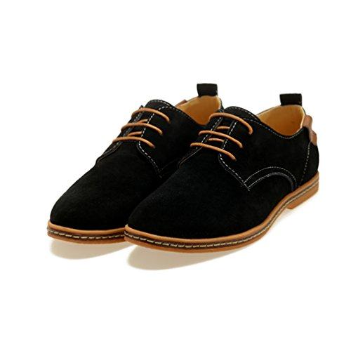YiJee Grande Taille Loisir Chaussure Lacets Chaussures de ville Homme Noir