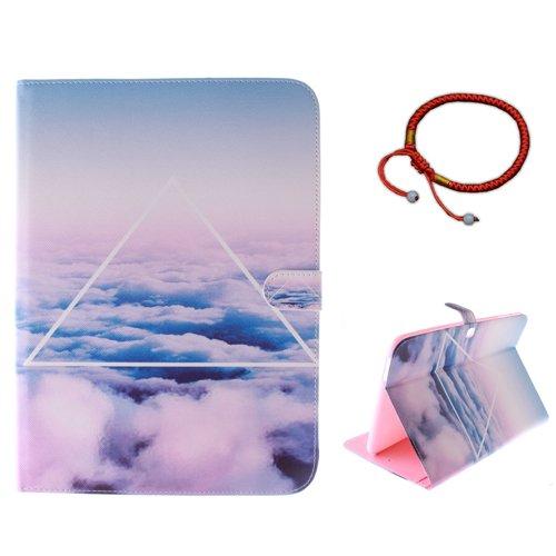 GOCDLJ Schutzhülle für Samsung Galaxy Tab 4 10.1 SM-T530 SM-T535 PU Leder Flip Cover Tasche Ledertasche Hülle Case Etui Wallet Magnetverschluss Pouch Shell Design ()