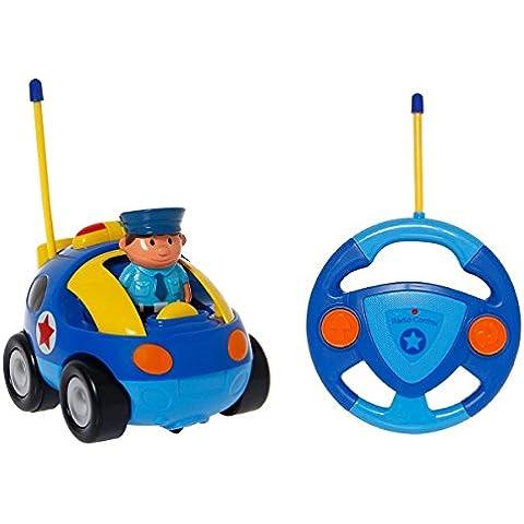 OurKosmos® Coche policía de la historieta RC con la figura de acción de juguete del control de radio con música mejor regalo de Navidad para los niños de los