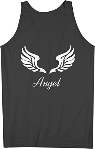 Angel Wings Heaven Herren Tank Top Ärmellos Muskelshirt Schwarz Large (Angel Tank Wings)