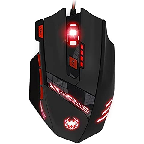 KingTop Gaming Mouse Ottico con presa USB, 6 DPI Regolabili
