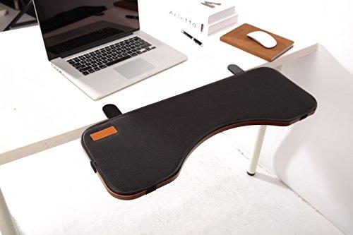 ERGONEER Ergonomische Tastatur-Handgelenkauflage Schreibtisch Extender für zusätzlichen Komfort Typing - Tabelle Mounted Armlehne Regal Elbow Ablageständer Entwickelt, um Kippen und Fold-Down (Unter Schreibtisch Tastatur-regal)