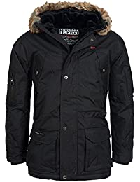 Geographical Norway ATLAS 1 MEN Anorak Chaqueta Negro para Hombre, XL