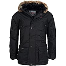 Geographical Norway ATLAS 1 MEN Anorak Chaqueta Negro para Hombre, Largo