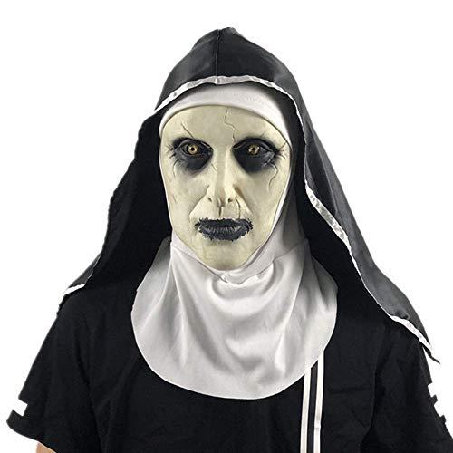 JHSHENGSHI Halloween Ghost Festival Horror Maske Überraschung Weibliche Geist Gesichtsmaske Cosplay Maske Latex Scary Voller Kopf perfekt für Fasching, Karneval & Halloween - Kostüm