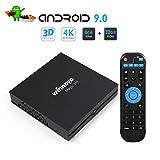 Winnovo 4K Android 9.0 TV Box, Magic 3rd Ultra HD 4GB RAM 32GB ROM Smart TV Streaming Player ARM 64 Bits Quad Core Processor, unterstützt Bluetooth 4.0/ H.265/ WiFi/ USB/ HDMI/ Netflix ...