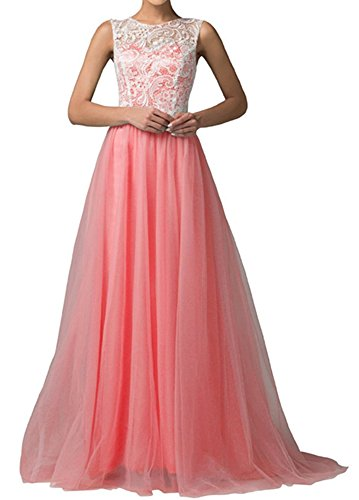 PLAER femmes Sexy Dentelle Engrener robe demoiselle d'honneur de mariage robe fête soir robe cocktail robe rouge pastèque