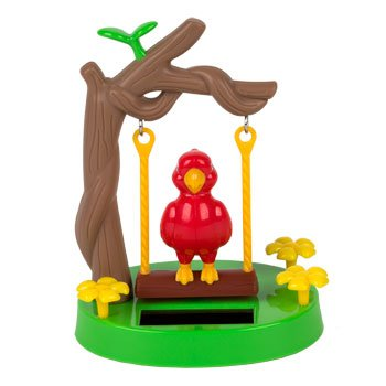 solar-powered-swinging-parrot