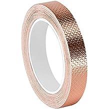 """TapeCase 0.625–6-1245cobre/acrílico adhesivo cinta de aluminio en relieve de convertir de 3M 1245, 0.0083""""de grosor, 6m Longitud, mm de ancho"""
