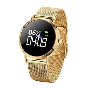 ★ CarJTY Blutdruck Herzfrequenz Schlafüberwachung Sport Smart Watch ★★ Armband für Android IOS Vielseitige, mehrsprachige Touchscreen-Smartuhr