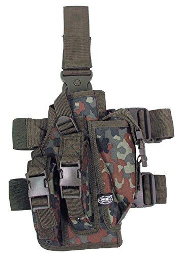 Pistolenbeinholster, flecktarn, Bein- und Gürtelbefestigung, rechts (Pistolenbeinholster)