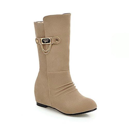 A&N ,  Damen Chelsea Boots , beige - aprikose - Größe: 36 (All Saints Frauen Boots)