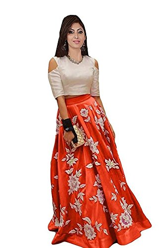 Ideal Trendz Lehenga Choli Banglorey Silk Febric With Semi-Stitched Blouse Piece.