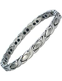 MPS® ALIOTH Classic Double Strength Titanium Magnetic Bracelet for women + FREE Links Removal Tool