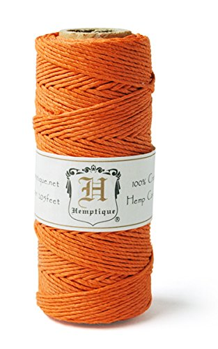 Hemp Cord Spool 20# 205'/Pkg-Orange -