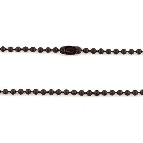 Chaîne boule Interiors Collier Noir mat * Qté 1