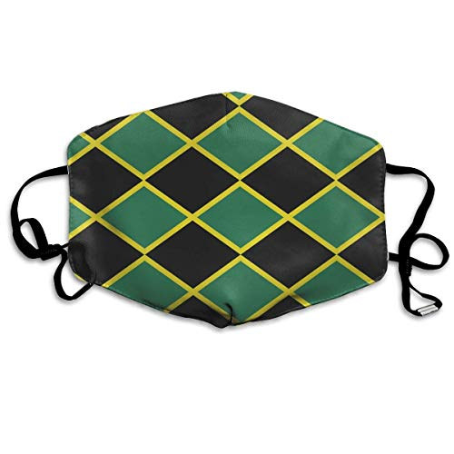 Preisvergleich Produktbild HUSDFS Mouth Maske Jamaican Flag Stripe Caribbean Island Tropical.jpg PM 2.5 Cotton Face Mouth Mask Muffle Respirator Comfy Reuseable Dustproof Antibacterial Mouth Cover Warm Windproof Face Protective