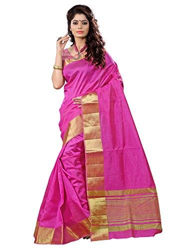 E-Vastram Tassar Silk Saree(TAP_Pink)