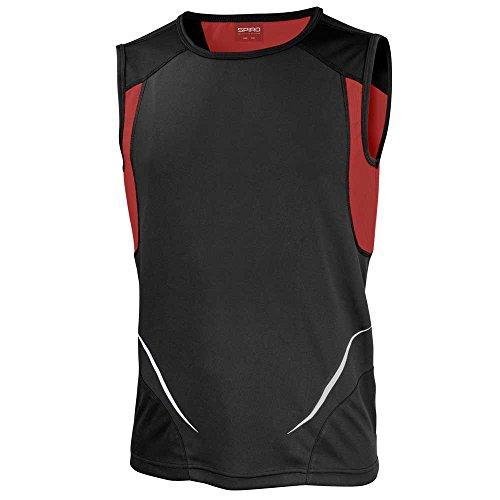 Spiro Mens Colours Athletic Running Training Sports Sleeveless Vest Top