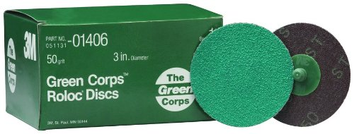 3M Schleif 405-051131-01406 Green Corps? Roloc? Schleif-Coated Polyester Disc (3m Green Corps Roloc Disc)
