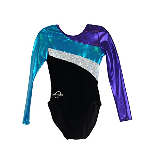 obersee-girls-long-arm-diagonal-gymnastics-leotard-nero-medio
