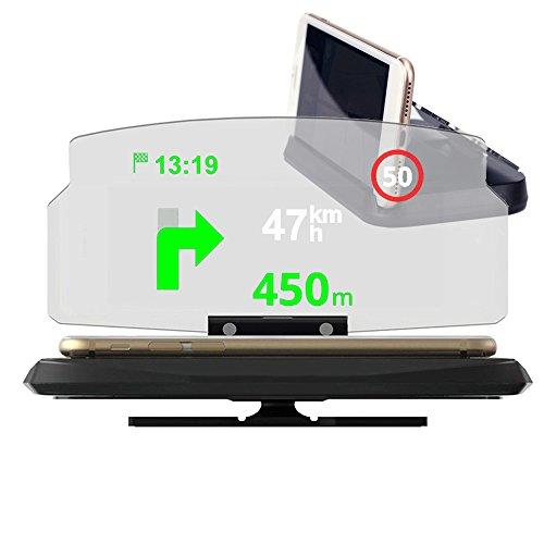 vonky universal 6.0pulgadas soporte para teléfono móvil de navegación Indicadores con Head Up Display para Auto GPS
