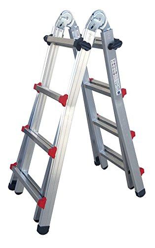 Sicos 146407 - Escalera multiposiciones (aluminio, 4x4)