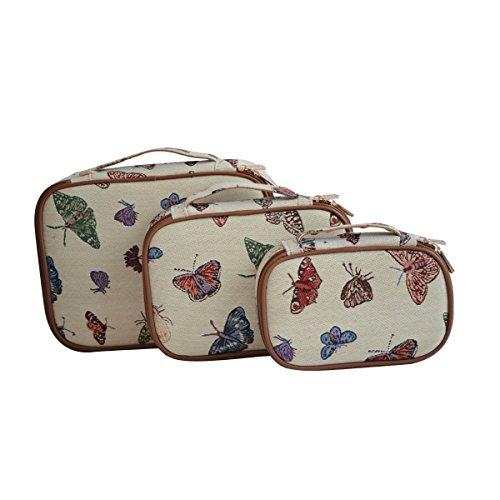 Modische Tapisserie Ein Set aus 3 Reisepack Würfeln in Signare stil Schmetterling