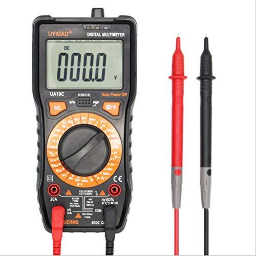 ER-JI Multimetro Digitale Tester, TRMS 6000 Conteggio Automatico Voltmetro di misurazione; Tensione di Misura Tester, Resistenza condensatore Tensione Frequenza Temperatura Prova diodo, Transistor