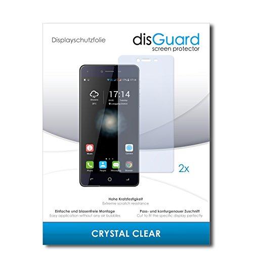 disGuard® Bildschirmschutzfolie [Crystal Clear] kompatibel mit Switel eSmart H1 [2 Stück] Kristallklar, Transparent, Unsichtbar, Extrem Kratzfest, Anti-Fingerabdruck - Panzerglas Folie, Schutzfolie