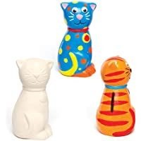 """Preisvergleich für Baker Ross Spardosen """"Katze"""" aus Keramik für Kinder Zum Bemalen und Dekorieren (2 Stück)"""