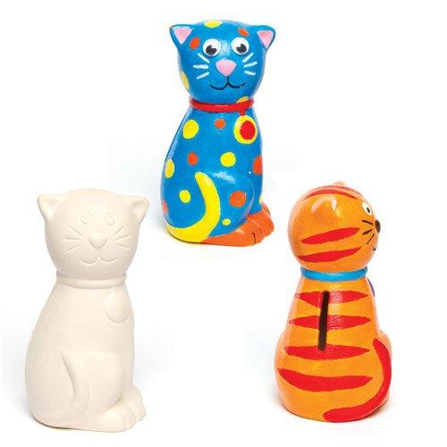Baker Ross Bonitas huchas cerámica Forma Gato Que