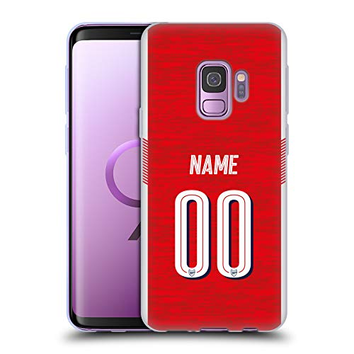 Head Case Designs Personalisierte Individuelle Arsenal FC Home Kit 2018/19 Soft Gel Huelle kompatibel mit Samsung Galaxy S9 - Soft Case Kit