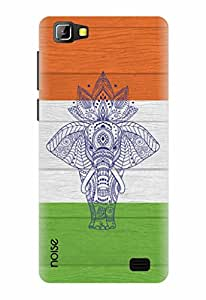 Noise Designer Printed Case / Cover for Lyf Wind 5 / Patterns & Ethnic / Elephant on Indian Flag Design