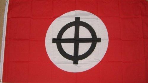Croix celtique antique 5 'x3'drapeau Rouge