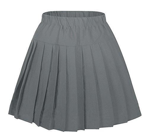 Frauen Plaid Elasticated Short Plissee Schule Kostüme Weiß Schwarz stripes Large