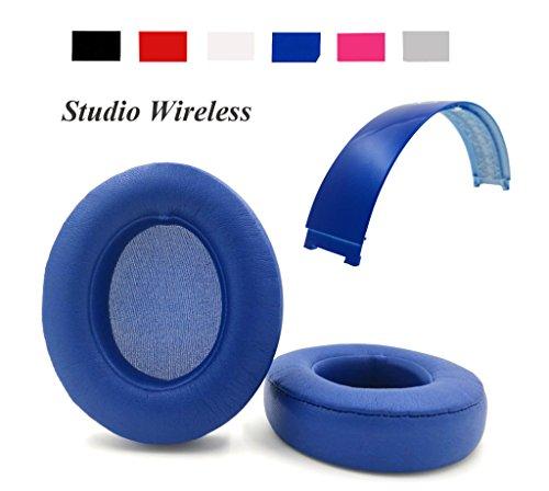 Beats Und Blau Pink (Reparatur-Set für Beats Studio Wireless Over-Ear/Beats Studio 2.0Kopfhörer Ersatz Ohrpolster Ohrkissen + Top Haarband)