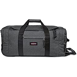 Eastpak Leatherface M Equipaje de ruedas, 69 cm, 61 L, Gris (Black Denim)
