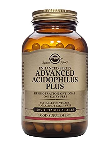 Solgar Advanced Acidophilus Plus Vegetable Capsules - 120 Capsules