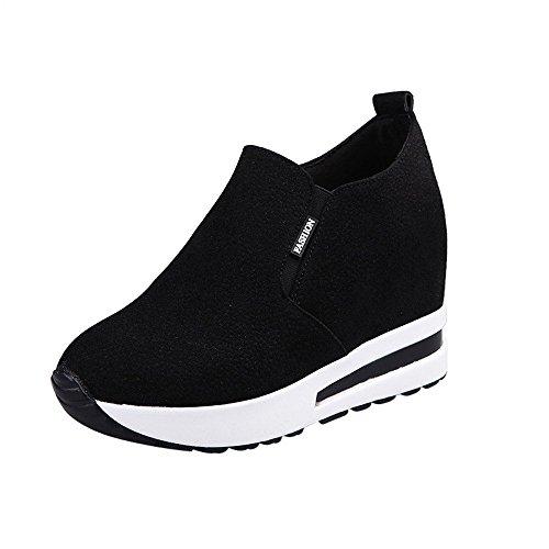 DOGZI Sneakers Damen Turnschuhe Damen High Top Laufschuhe Damen Wanderschuhe Damen Frauen Sportschuhe Frauen Herbst versteckte Ferse Schuhe Slip-on Schuhe Casual Travel Schuhe