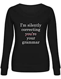 Green Turtle T-Shirts Sudadera Mujer - Im Silently Correcting Your Grammar -