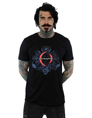 Absolute Cult Circle Hombre Mandala Logo Camiseta Negro Small